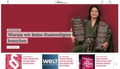 Negativkampagne der 'Initiative Neue Soziale Marktwirtschaft' gegen die Grünen im Juni 2021