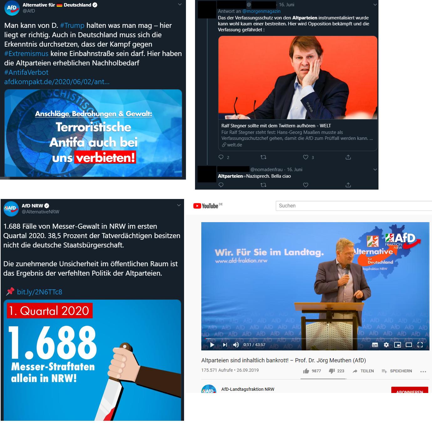 Abbildung 6 Altpartei in sozialen Netzwerken
